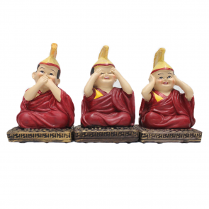 Set of 3 Cute Baby Lamas - Stone Dust Statues
