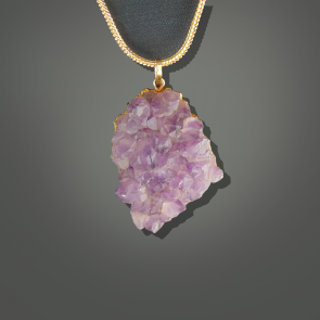 Amethyst Pendant - Light Purple
