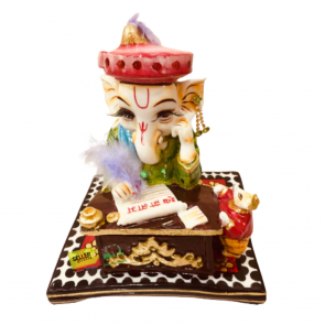 Multi Color Lord Accounting Ganesh (Polyresin, Multicolor) - Exclusively By Sellerstreets