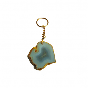 Agate Keychain -Whitish